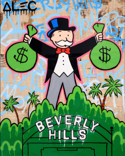 Monopoly Holding 2 $ Bags Beverly Hills'
