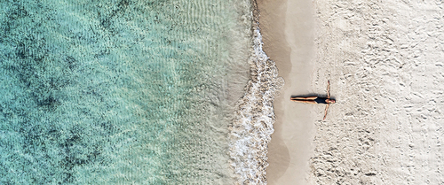 View from the sky : Plage de Sperone
