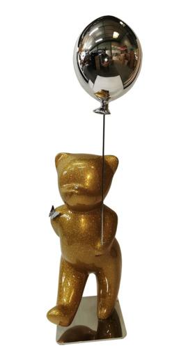 Sparkly Gold Glitter Balloon Silver (résine - paillettes)