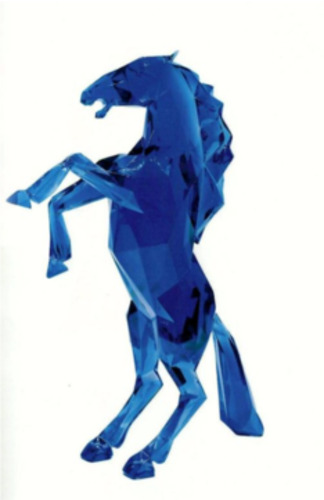 Horse Blue Crystal Clear