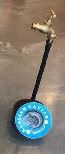Robinet à caviar bleu clair