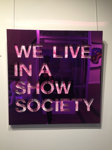 We live in a show society-pink