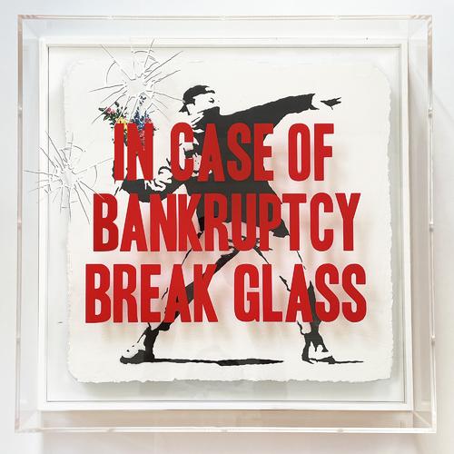 "In Case of Bankruptcy - BROKEN GLASS - ""Flower Thrower"", 2021"