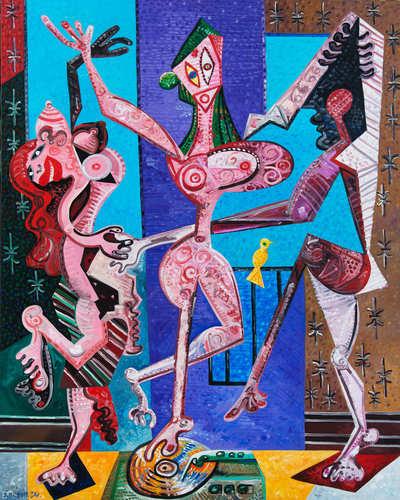 Trois femmes qui dansent le chachacha, 2017