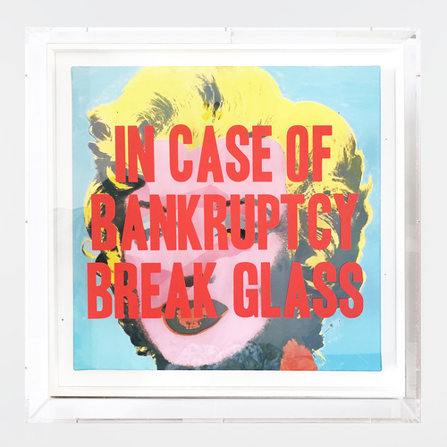 In Case of Bankruptcy - Andy Warhol blue Marilyn (60x60cm)