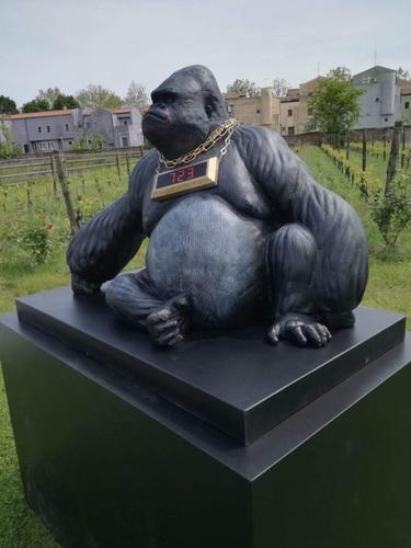 Gorilla Seduto Medio Grande