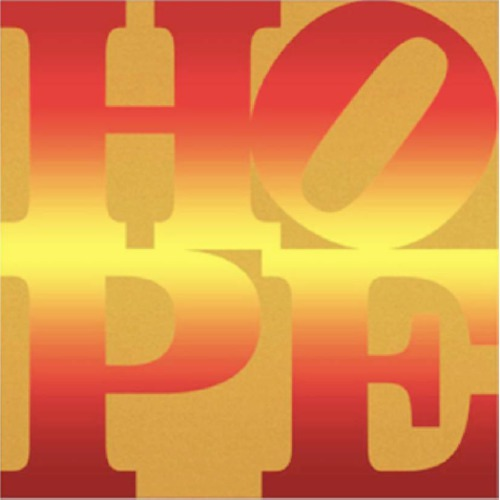 Four Seasons of HOPE book (Gold) – A Portfolio of 4 Silkscreen Prints, 2012