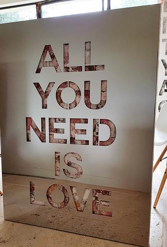 All You Need is Love - Inox brossé