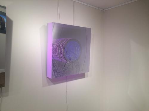 LED Coffrage carré givrée : rose / bleu