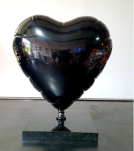 Heart Balloon S Sideral Black, 2020
