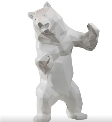 Ours debout - White