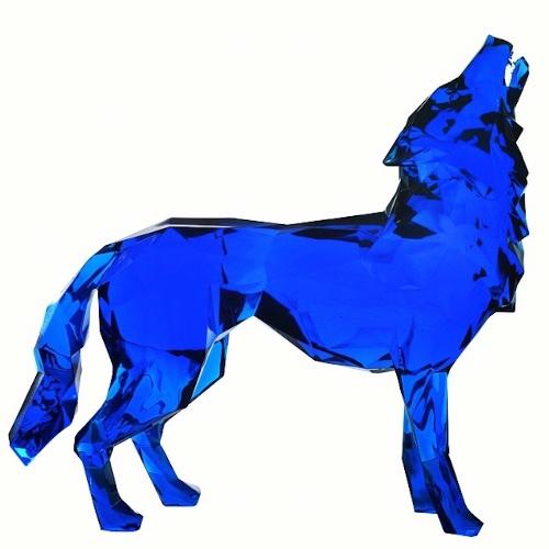 Loup hurlant - Blue crystal