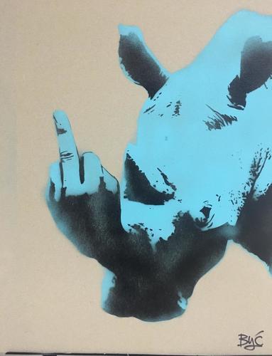 Rhino bleu turquoise, série II