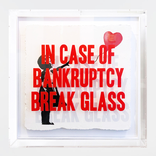 In Case of Bankruptcy - Banksy Heart Balloon Girl