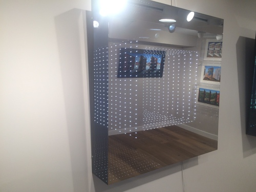 LED Coffrage carré cube: blanc froid