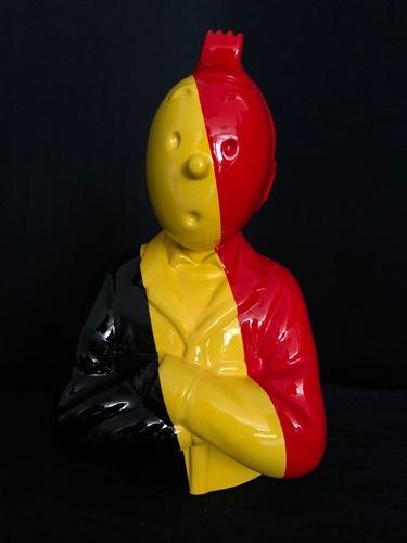 """TINTIN Bras croisés - """"Le Manteau de l'enfance"""" Le Belge (35 cm)"""