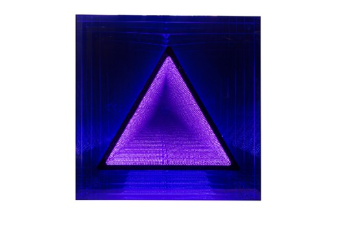 LED coffrage carré ST triangle : bleu / rose