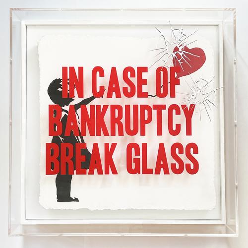 "In Case of Bankruptcy - BROKEN GLASS - ""Balloon Girl"", 2021"
